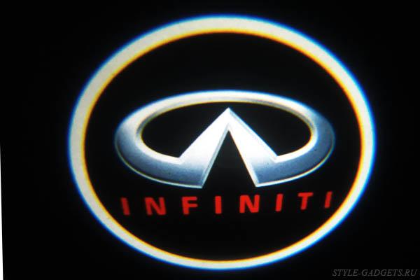 Подсветка двери с логотипом Infiniti(навесная)
