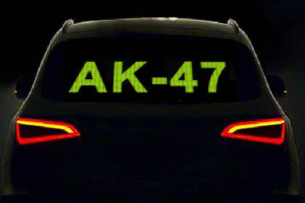 Эквалайзер на заднее стекло АК-74 Зеленый 70cm*16cm