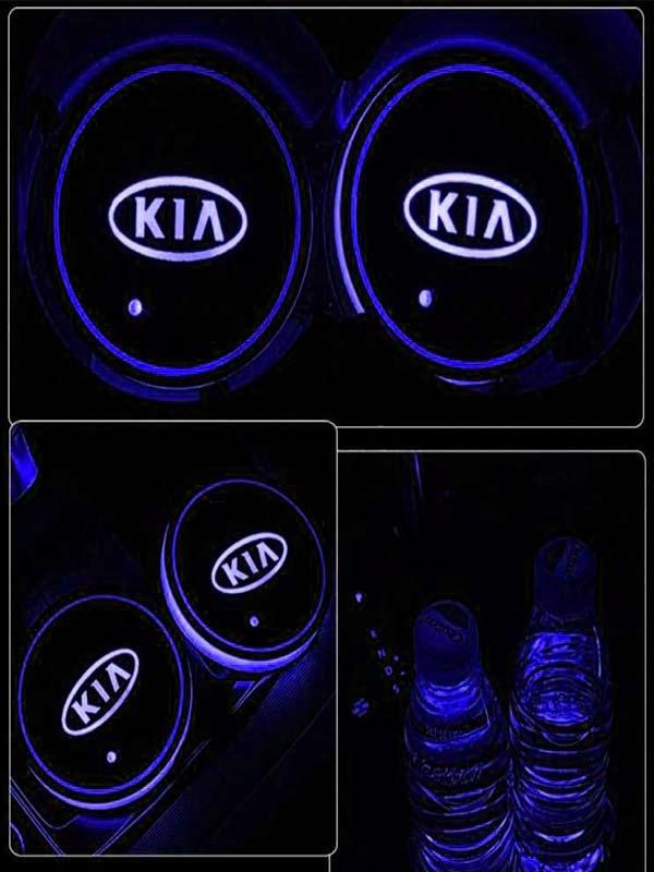 Podsvetka podstakannikov s logotipom Kia 4