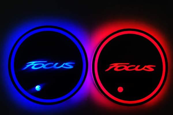 podsvetka podstakannikov s logotipom ford focus 3