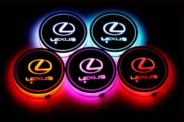 podsvetka podstakannikov s logotipom lexus 4
