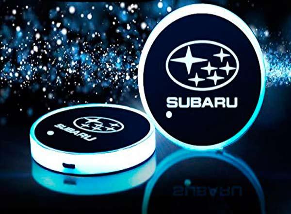 podsvetka podstakannikov s logotipom Subaru 3